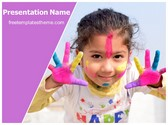 Free Holi Fun PowerPoint Template Background, FreeTemplatesTheme