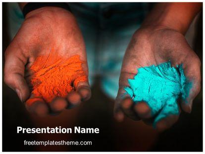 Holi Gulal Free Powerpoint Template Theme, freetemplatestheme.com
