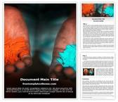 Free Holi Gulal Word Template Background, FreeTemplatesTheme