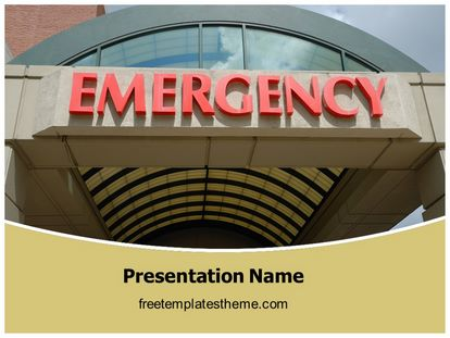 Free hospital emergency powerpoint template freetemplatestheme slide1g toneelgroepblik Images