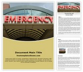 Free Hospital Emergency Word Template Background, FreeTemplatesTheme