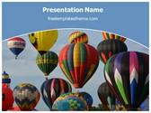 Free Hot Air Balloon PowerPoint Template Background, FreeTemplatesTheme