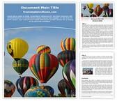 Free Hot Air Balloon Word Template Background, FreeTemplatesTheme