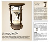 Free Hourglass Word Template Background, FreeTemplatesTheme