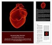 Free Human Heart Word Template Background, FreeTemplatesTheme