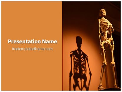 free human skeleton powerpoint template | freetemplatestheme, Skeleton