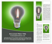 Free Idea Bulb Word Template Background, FreeTemplatesTheme