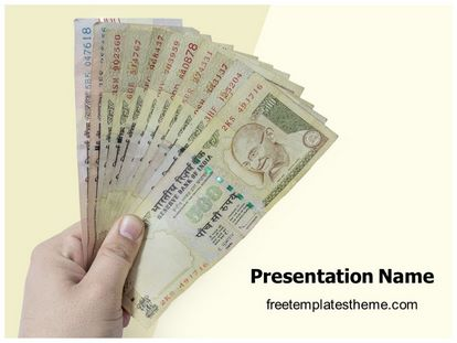 free indian currency demonetisation powerpoint template