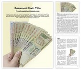 Free Indian Currency Demonetisation Word Template Background, FreeTemplatesTheme