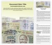 Free Indian Demonetisation Word Template Background, FreeTemplatesTheme