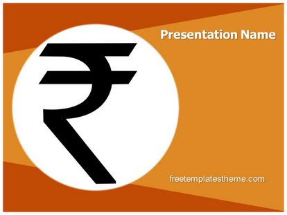 Free Indian Rupee Symbol Powerpoint Template Freetemplatestheme