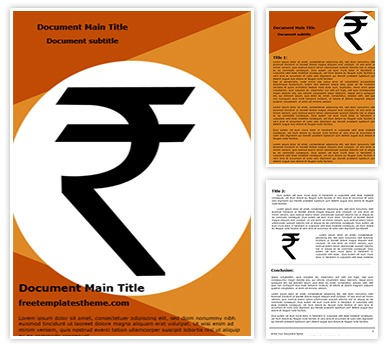 Free Indian Rupee Symbol Word Template Freetemplatestheme