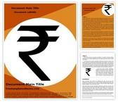 Free Indian Rupee Symbol Word Template Background, FreeTemplatesTheme