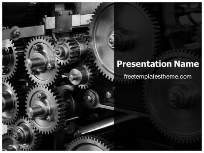 Free industrial machine gears powerpoint template slide1g toneelgroepblik Image collections