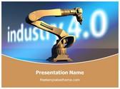 Free Industry Robot PowerPoint Template Background, FreeTemplatesTheme