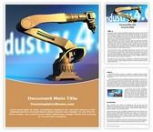Free Industry Robot Word Template Background, FreeTemplatesTheme