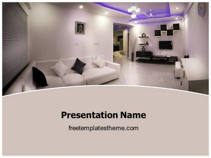 Interior Designing Free PPT Background Template freetemplatestheme.com
