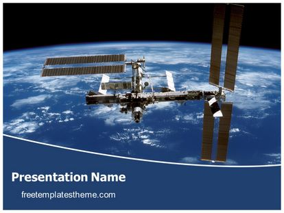 Free International Space Station Powerpoint Template