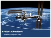 Free International Space Station PowerPoint Template Background, FreeTemplatesTheme