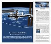 Free International Space Station Word Template Background, FreeTemplatesTheme