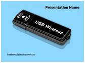 Free Internet USB Dongle PowerPoint Template Background, FreeTemplatesTheme