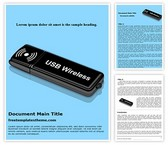 Free Internet USB Dongle Word Template Background, FreeTemplatesTheme
