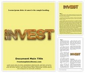 Free Invest Word Template Background, FreeTemplatesTheme