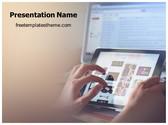 Free Ipad Browsing PowerPoint Template Background, FreeTemplatesTheme
