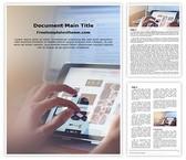 Free Ipad Browsing Word Template Background, FreeTemplatesTheme