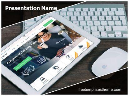 Free ipad keyboard mouse powerpoint template freetemplatestheme slide1g toneelgroepblik Image collections