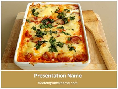 free italian food powerpoint template | freetemplatestheme, Modern powerpoint