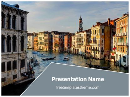free italy venice city powerpoint template | freetemplatestheme, Modern powerpoint