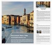 Free Italy Venice City Word Template Background, FreeTemplatesTheme