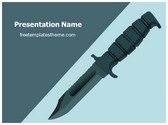 Free Knife PowerPoint Template Background, FreeTemplatesTheme