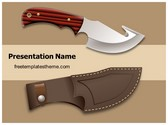 Free Knife Weapon PowerPoint Template Background, FreeTemplatesTheme