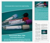 Free Laboratory Blood Test Word Template Background, FreeTemplatesTheme