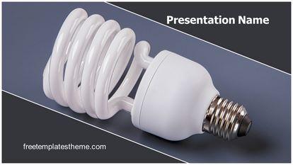 Light Bulb Cfl Free Powerpoint Template Widescreen, FreeTemplatesTheme