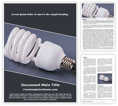 Light Bulb Cfl Free Word Document Template, freetemplatestheme.com
