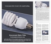 Free Light Bulb CFL Word Template Background, FreeTemplatesTheme