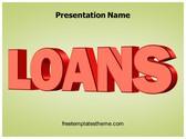 Free Loans PowerPoint Template Background, FreeTemplatesTheme