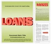 Free Loans Word Template Background, FreeTemplatesTheme