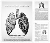 Free Lungs Disease Word Template Background, FreeTemplatesTheme