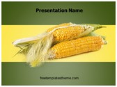 Free Maize Grains Corn PowerPoint Template Background, FreeTemplatesTheme