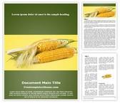 Free Maize Grains Corn Word Template Background, FreeTemplatesTheme
