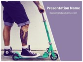 Free Man Shorts PowerPoint Template Background, FreeTemplatesTheme