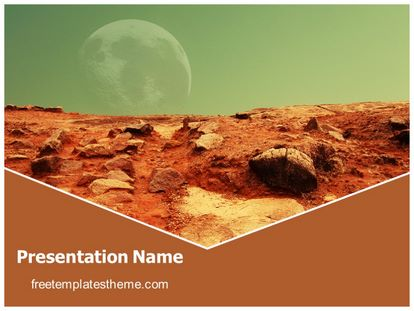 Free Mars Red Planet Powerpoint Template Freetemplatestheme Com