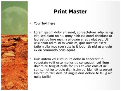 free mars red planet powerpoint template | freetemplatestheme, Modern powerpoint