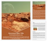 Free Mars Red Planet Word Template Background, FreeTemplatesTheme