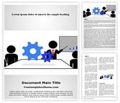 Free Mechanical Training Word Template Background, FreeTemplatesTheme