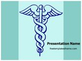 Free Medical Caduceus PowerPoint Template Background, FreeTemplatesTheme
